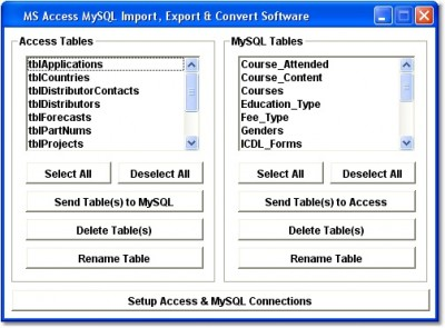 Access MySQL Import, Export & Convert Software 7.0 screenshot