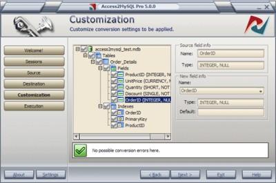 Access2MySQL PRO 5.6.0 screenshot