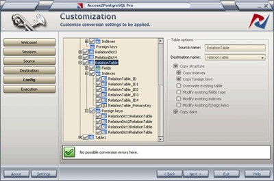 Access2PostgreSQL PRO 1.6.0 screenshot