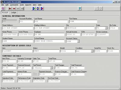 Accounts Receivable 3.2 screenshot