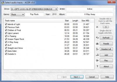 ACDR 5.0 screenshot