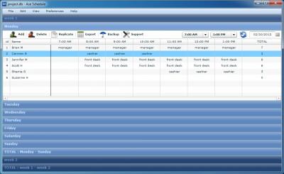 Ace Schedule 5.14 screenshot