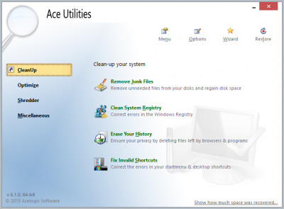 Ace Utilities 6.4.0 screenshot
