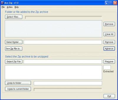 Ace Zip 3.2 screenshot