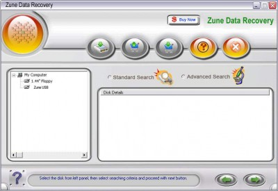 Ace Zune Data Recovery 2011.1105 screenshot