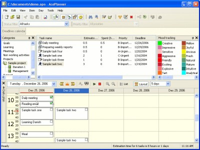 AcePlanner 1.2.55 screenshot