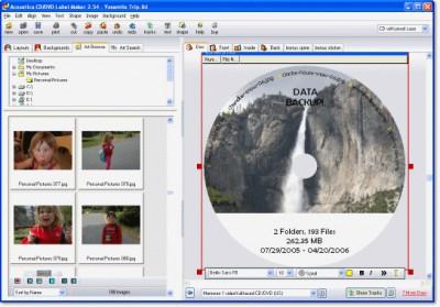 Acoustica CD/DVD Label Maker 3.33 screenshot