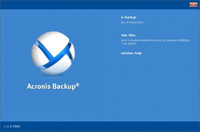 Acronis Backup Universal License 11.7.0.441 screenshot