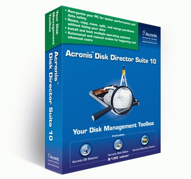 ������ Acronis Disk Director  10.0 �� ����� ����� ����� ������� �� ������� �����+���