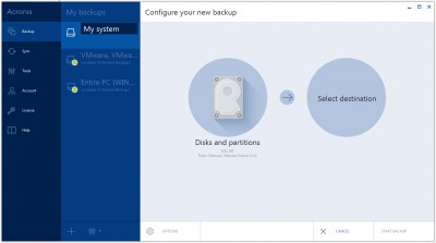 Acronis True Image 2015 for PC 1.1 screenshot