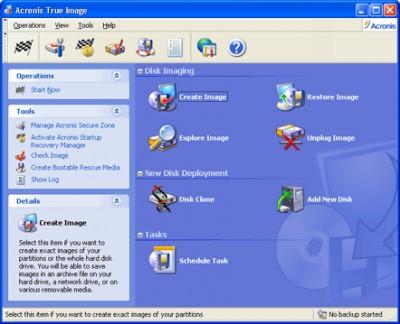 Acronis True Image Corporate Workstation 8.0 screenshot