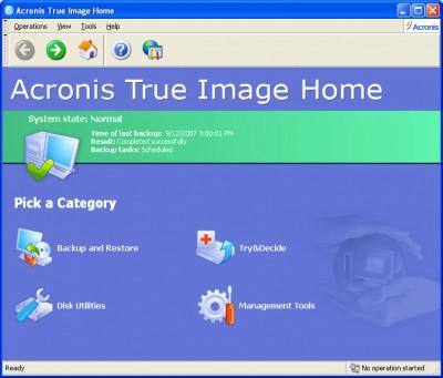 Acronis True Image Home 11 screenshot