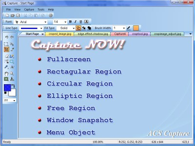ACS Capture 3.2.1 screenshot