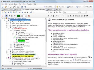 ActionOutline 3.4 screenshot