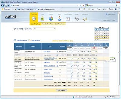 actiTIME MA 3.2 screenshot