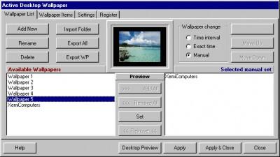 Active Desktop Wallpaper 1.1 screenshot