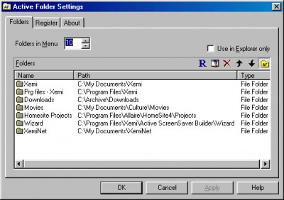 Active Folder 1.0 screenshot