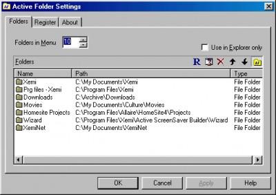 Active Folder 1.0 screenshot