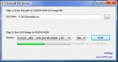Active ISO Burner 1.1 screenshot