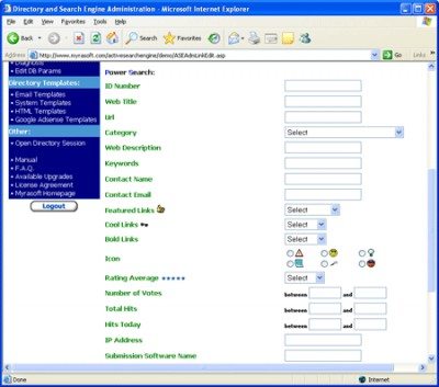 Active Search Engine 3.1.4 screenshot