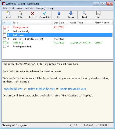 Active To-Do List 5.1 screenshot