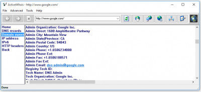 Active Whois Browser 5.3 screenshot