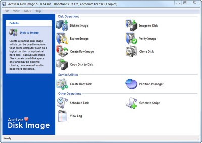 Active@ Disk Image Lite 7.0.4 screenshot