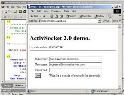 ActiveSocket Network Communication Toolkit 2.1 screenshot