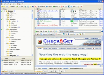 ActiveURLs Check&Get - Web-Monitor, Bookmark Manag 3.0.0 screenshot