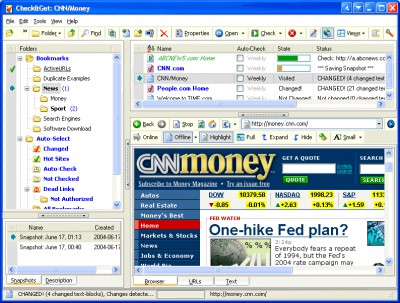 ActiveURLs Check&Get - Web-Monitor, Bookmark Manag 3.4.0.11 screenshot