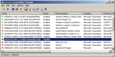 ActiveX Compatibility Manager 1.00 screenshot
