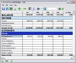 Actual Personal Budget - Lite 1.3 screenshot