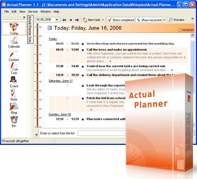 Actual Planner 2.0.1 screenshot