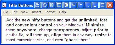 Actual Title Buttons 8.14.4 screenshot