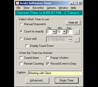 Acute Softwares Timer 4.6 screenshot