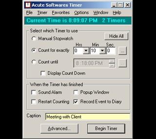 Acute Softwares Timer 4.6 screenshot