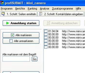 ACX profiSUBMIT 10.2.7 screenshot