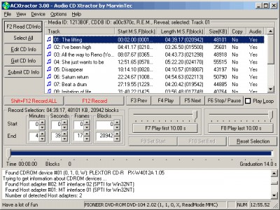 ACXtractor 3.20 screenshot