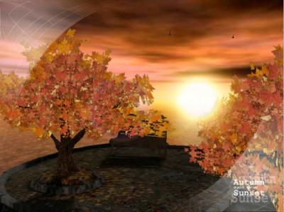 AD Autumn Sunset - Animated 3D Wallpaper 3.1 screenshot