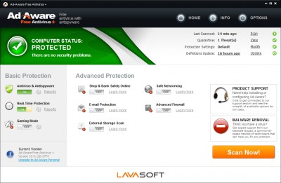 Ad-Aware Free Antivirus 11.10 screenshot
