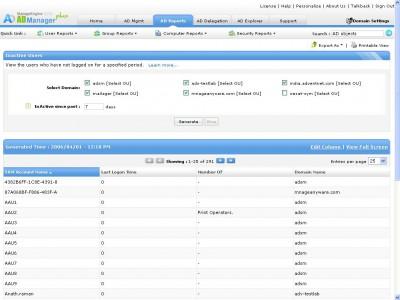AD Bulk User Management, Delegation and Reporting 6.0 screenshot