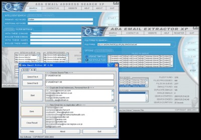 Ada Email Search XP Golden Bundle 2.08 screenshot
