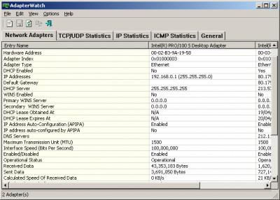 AdapterWatch 1.05 screenshot