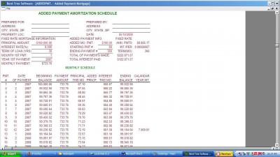 Added Payment Amortization+ 1.2 screenshot