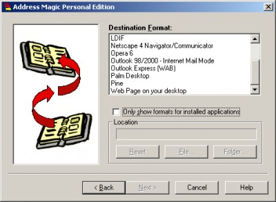 Address Magic Personal Edition 3.0.0.360 screenshot
