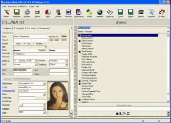 AddressBook for Windows 7.02 screenshot