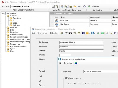 ADO++ AD-Exchange-S4B User Management 5.0.15 screenshot