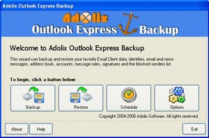 Adolix Outlook Express Backup 3.0 screenshot