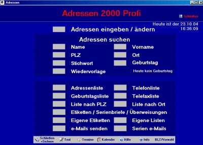 Adressen 2000 8.0 screenshot