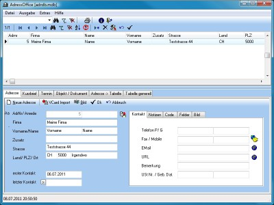 AdressOffice 2.0.0.20 screenshot